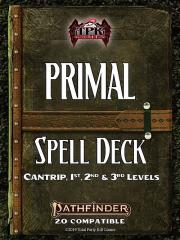 Primal Spell Deck - Cantrips-3rd Level