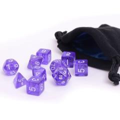 Purple Translucent w/White (10)