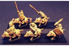 Orcian Boar Cavalry w/Swords & Shields
