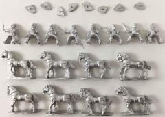 Elvian Cavalry w/Swords & Shields on Unarmored Horse