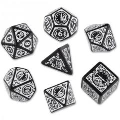 Clockwork Poly Set Black w/White (7)