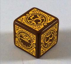 D6 2013 Free RPG Day Die - Brown w/Yellow