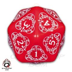 D20 Red w/White