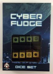 Cyber Fudge Dice - Green & Yellow (8)