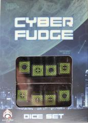 Cyber Fudge Dice - Green & Black (8)