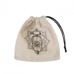 Dwarven Basic Dice Bag Beige w/Black
