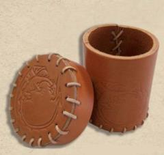 Dragon Leather Dice Cup - Brown