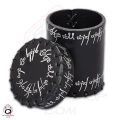 Elvish Leather Dice Cup - Black