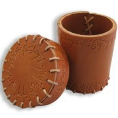 Elvish Leather Dice Cup - Brown