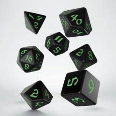 Poly Set Black w/Green (7)