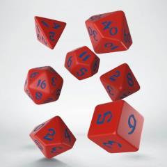 Poly Set Red w/Blue (7)