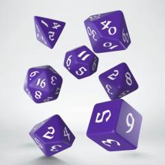 Poly Set Purple w/White (7)