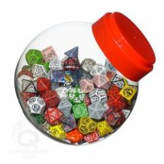 Jar of Dice w/d4, d6, d8, d10, d12, d20, & d100