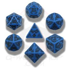 Poly Set Blue w/Black (7)