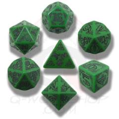 Poly Set Green w/Black (7)