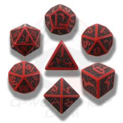 Poly Set Red w/Black (7)