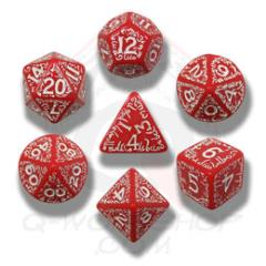Poly Set Red w/White (7)