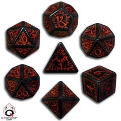 Poly Set Black w/Red (7)