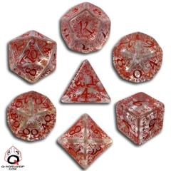 Poly Set Transparent w/Red (7)