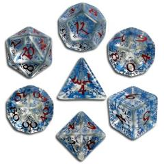 Poly Set Transparent w/Blue & Red (7)