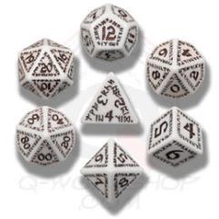 Poly Set White w/Brown (7)