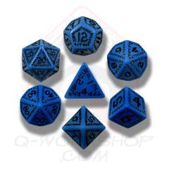 Poly Set Blue w/Black (7)