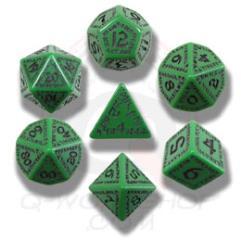 Poly Set Green w/Black (7)