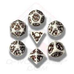 Poly Set White w/Brown (7)