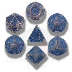 Poly Set Transparent w/Blue (7)