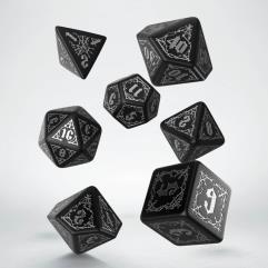 Bloodsucker Dice Set - Black w/Silver (7)