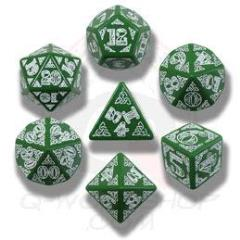 Poly Set Green w/White (7)