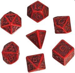 Poly Set Black w/Red (7)