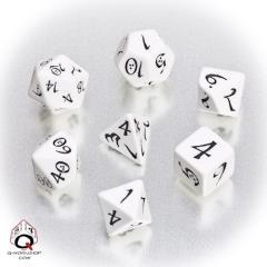 Poly Set White w/Black (7)