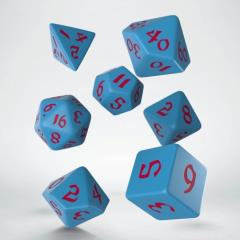 Poly Set Blue w/Red (7)