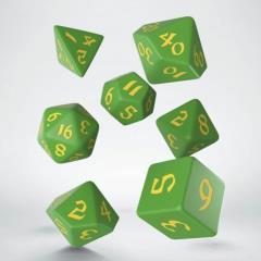 Poly Set Green w/Yellow (7)