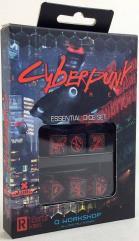 Cyberpunk Red - Essential Dice Set - Black w/Red (6)