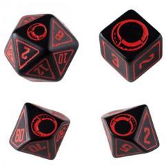 Poly Set Black w/Red (4)