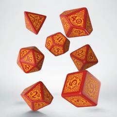 Dragon Slayer Dice Set - Red w/Orange (7)