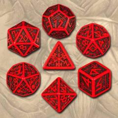 Poly Set Red w/Black (7)