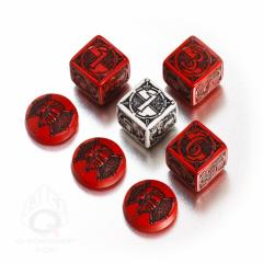 Kingsburg Dice & Tokens Set - Red