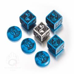 Kingsburg Dice & Tokens Set - Blue