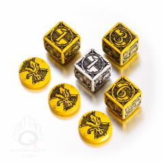 Kingsburg Dice & Tokens Set - Yellow