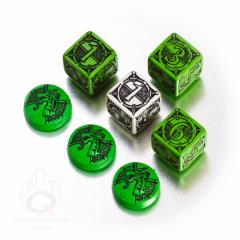 Kingsburg Dice & Tokens Set - Green