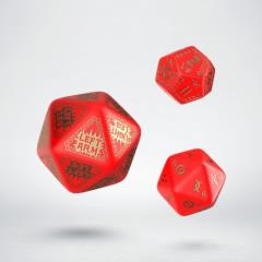 RuneQuest Expansion Dice Set - Red w/Gold (3)