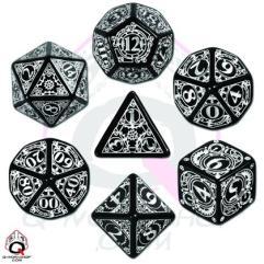 Poly Set Black w/White (7)
