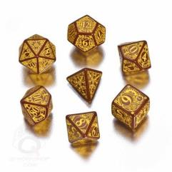 Poly Set Brown w/Yellow (7)