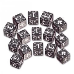 German d6 Set - Black w/White (15)