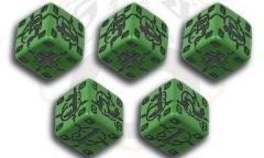 German d6 Set - Green w/Black (5)
