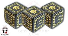 Orc d6 Set - Black w/Yellow (5)