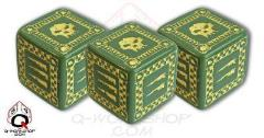 Orc D6 Set - Green w/Yellow (5)